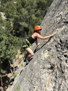 Outdoor beginners climbing